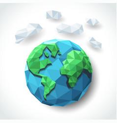 earth polygon vector image