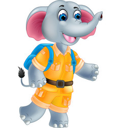 funny elephant cartoon posing with laughing vector image vector image