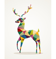 Merry Christmas trendy abstract reindeer EPS10 vector image vector image
