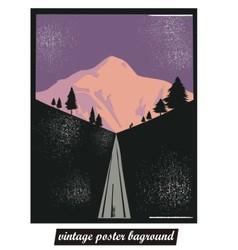vintage poster background vector image vector image