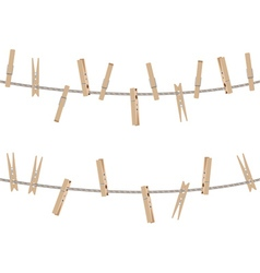 Wooden Clothespin Set4 vector image