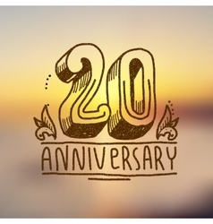 Anniversary sign 20 vector image vector image