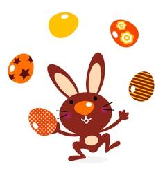 Cute jumping bunny vector image