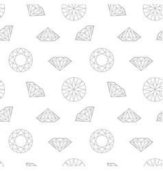 diamond concept seamless pattern wrapping paper vector image