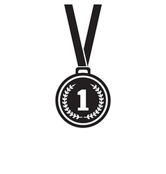 First place medal monochrome icon vector image
