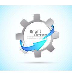 Gear with arrow vector image vector image