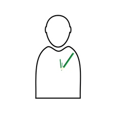 man with eco pencil vector image