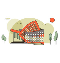 modern concert buildings in flat style vector image vector image