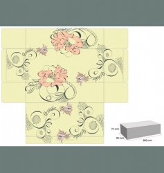 vintage template for box design vector image