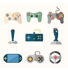 Joystick flat icons vector image