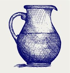Milk pitcher vector image vector image