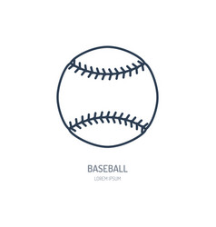 baseball softball line icon ball logo vector image