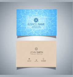 business card with swimming pool water texture vector image
