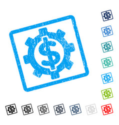 financial options icon rubber watermark vector image vector image