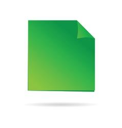 green reminder vector image vector image