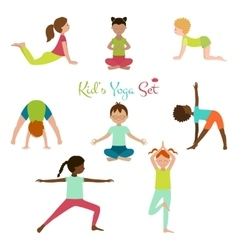 Kid Yoga Set vector image