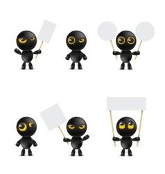 Set of cartoon characters emoticon vector image vector image