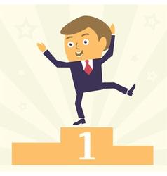 winner businessman vector image vector image