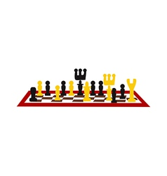 A chess game vector