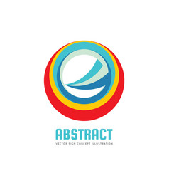 Abstract circle logo template concept vector