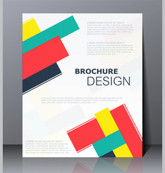 abstract digital business brochure vector image