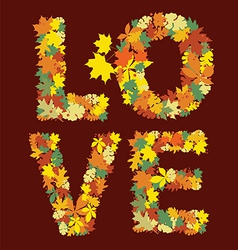 Autumn love message design vector