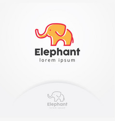 baby elephant logo vector image