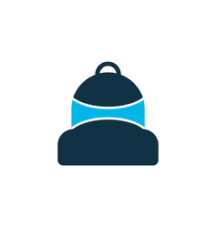 Backpack icon colored symbol premium quality vector