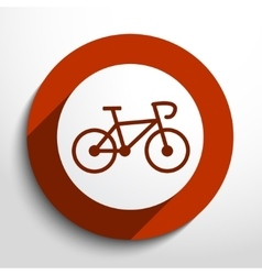 Bicycle web icon vector