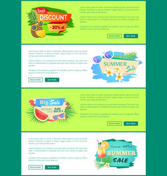 big sale promotion posters vector image
