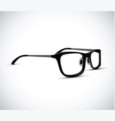 black and white glasses vector image