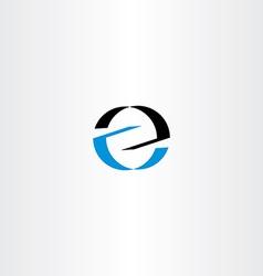 black blue logo letter icon z logotype z vector image