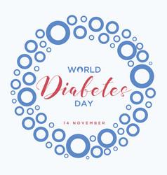 Blue circle world diabetes day vector