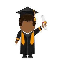 Boy graduation cap design vector