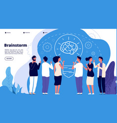 brainstorm concept professionals launching vector image