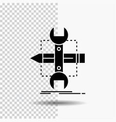 Build design develop sketch tools glyph icon on vector
