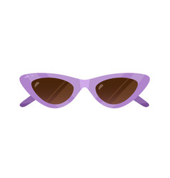 cat eyes sunglasses in 50s retro style fashion vector image