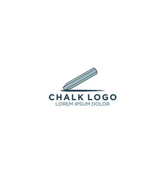Chalk logo - education school logo design vector