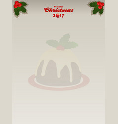 Christmas twenty seventeen shaded copy space vector