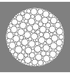 Circle made of dots vector