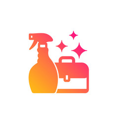 Cleaning spray icon service diplomat vector