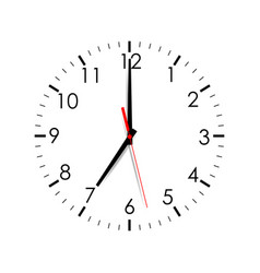 clock face isolated vector image