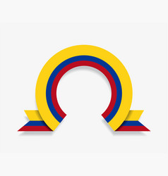 Colombian flag rounded abstract background vector