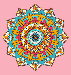 Colourful mandala background design vector
