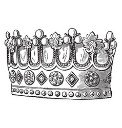 Coronet of thomas fitzalan vintage engraving vector