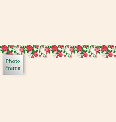 Cover for web with floral ornament from red roses vector