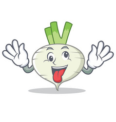 crazy turnip mascot cartoon style vector image