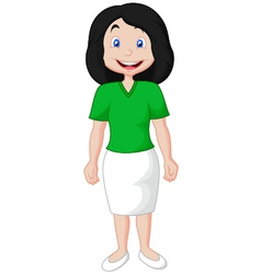 cute cartoon of a young mother vector image