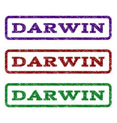 Darwin watermark stamp vector