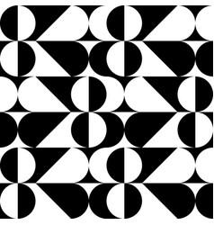 decorative geometric pattern black and white vector image
